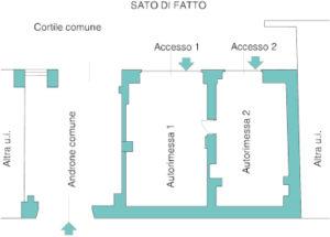 studio mat architettura STATO DI FATTO VIA OSPEDALE 11 RIVOLI