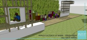 """STUDIO PRELIMINARE AULA VERDE AL PARCO CULTURALE """"LE SERRE"""" GRUGLIASCO (TO)"""